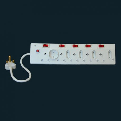 10 WAY ELECTRICAL MULTI ADAPTOR WITH ILLUMINATING ON LIGHTS  – Product Code 406