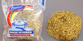 Premier Housewares - BRASS PLATED SCOURER - Product Code 8132
