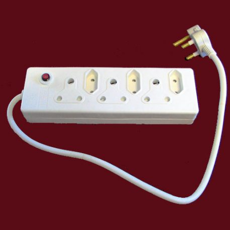 DELUXE 6 WAY ELECTRICAL MULTI ADAPTOR – Product Code 356D