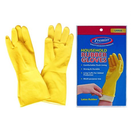 RUBBER WASHING UP GLOVES – ASSORTED SIZES AVAILABLE