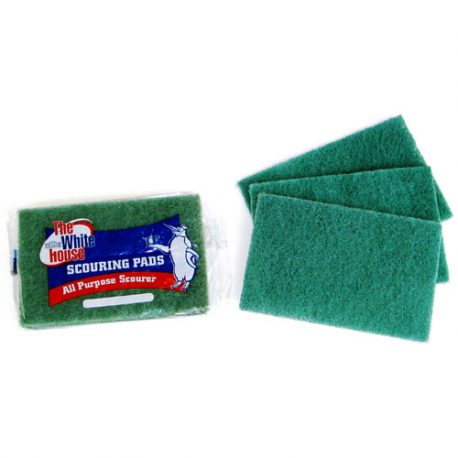 SCOURING PADS GREEN - 3 PACK AND BULK - PRODUCT CODE 8814