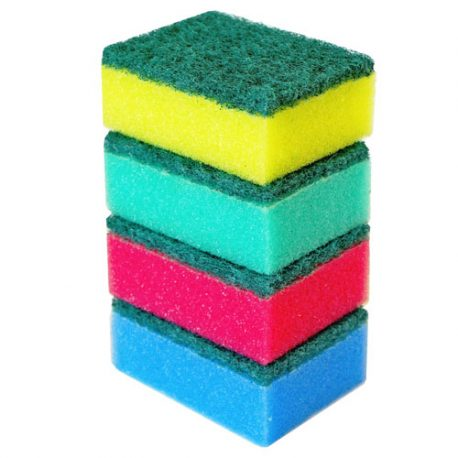 SPONGE SCOURERS ASSORTED COLOURS – 4 PACK AND BULK – Product Code 8808